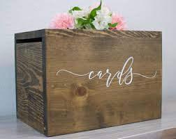 wedding box wedding money box etsy
