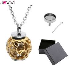 memorial pendants jovivi stainless steel hollow butterfly flower container urn