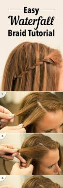 tutorial rambut waterfall make a waterfall braided bun hairstyles tutorial this is lovely