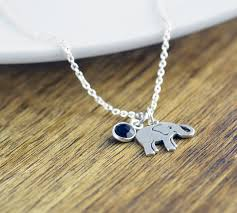 elephant necklace elephant jewelry gemstone necklace good
