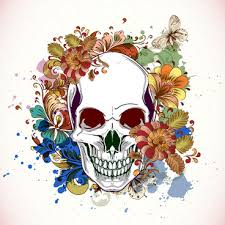 floral skull free vector in adobe illustrator ai ai
