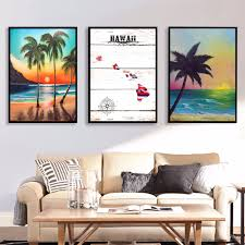 Hawaii Home Decor Online Get Cheap Hawaii Posters Aliexpress Com Alibaba Group