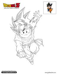 18 colorear todo images goku dragon ball