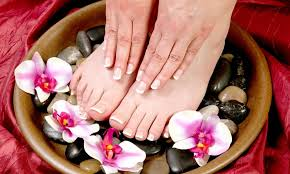 spa manicure pedicure or both oob dd village inc groupon
