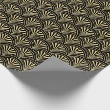 deco wrapping paper deco architectural pattern copper and brown wrapping paper