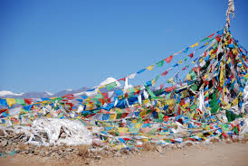 Prayer Flags 01 First View Of Mount Kailash With Prayer Flags