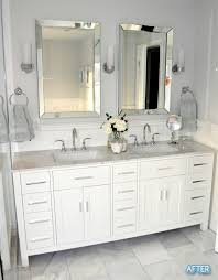 Small Bathroom Vanity With Drawers Before And After Small Bathroom Makeovers Big On Style Double