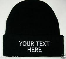 custom embroidered beanies clothing shoes accessories ebay