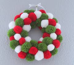 wreath pom pom wreath classic