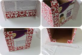 decorative paper boxes diy how to recycle cardboard boxes into pretty storage boxes with