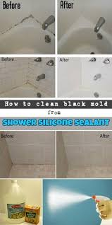 Cleaning A Bathtub With Vinegar How To Get Rid Of Black Mold In Your Shower Caulking Remove Mold