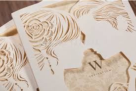 wedding cards for and groom 50pcs groom laser cut wedding invitations cards with 50