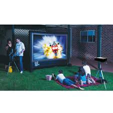 outdoor camping projector screen backyard theater systems