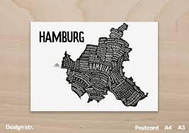 grafik design hamburg hamburg stadtplan deutschland karte grafik design poster