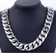 link choker necklace images 72cm 24mm super heavy punk cool men 39 s gold silver tone curb jpg