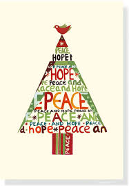peace hope tree small boxed holiday cards christmas cards