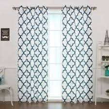 Moroccan Print Curtains Best Home Fashion Oxford Basketweave Moroccan Print Curtains