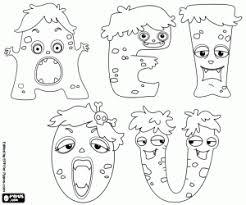 coloriage monstres des voyelles idee de grimoire pinterest