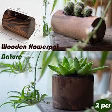 furnishings fun 100 pine semillas wooden vase flower pot zakka