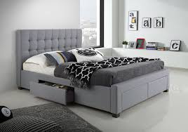 Tufted Bed With Storage Fabric Upholstered Bed With Drawers Upholstered Bed With Drawers