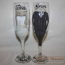 wedding on glass design unique glasses