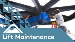 lift maintenance bullwheel bearing replacement liberty
