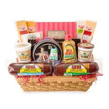 sausage gift baskets party favorites gourmet summer sausage and cheese large