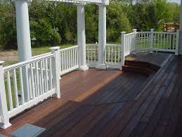 exterior design enchanting ipe decking with wood deck railing and