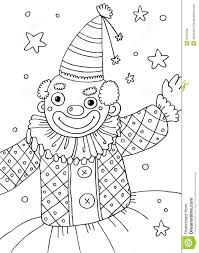 clown coloring page royalty free stock image image 8789486