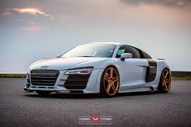 audi r8 gold hamana audi r8 v10 on gold vossen wheels front side sssupersports
