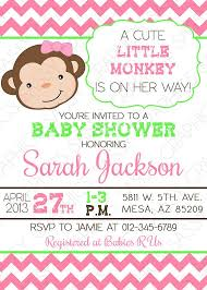 templates printable monkey baby shower invitations cheap with