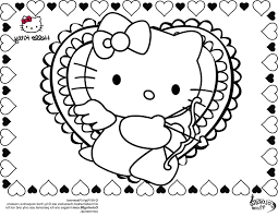 kitty valentines free coloring pages art coloring pages