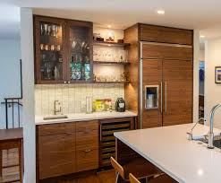 modern walnut kitchen cabinets able and baker custom cabinetry