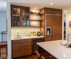 modern walnut kitchen modern kitchens u2014 able and baker custom cabinetry