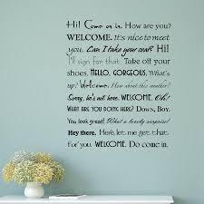 Home Hey There Home Discount Vestibule Welcome Phrases Wall Quotes Decal Black