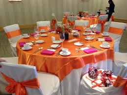 tablecloths and chair covers orange and pink chair covers chair sashes napkins can sell