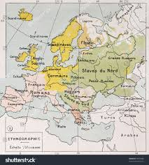 atlas map of europe ethnographic map europe by paul stock illustration 95907880