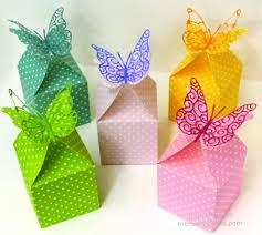 butterfly favor boxes butterfly favor boxes and an easter card outside the box