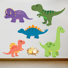 children s dinosaur wall sticker set dinosaur wall stickers children s dinosaur wall sticker set