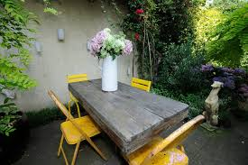 Shabby Chic Patio Decor by Asian Outdoor Pub And Bistro Tables Patio Shabby Chic Style With