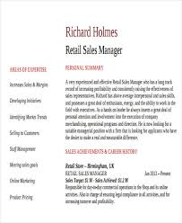 Retail Sales Manager Resume Sample by 42 Manager Resume Templates Free U0026 Premium Templates