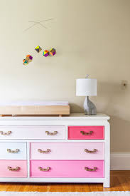 Changing Table Mobile Stunning Transitional Nursery Pink Painted Dresser With Changing