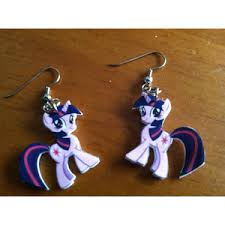 my pony earrings my pony twilight sparkle shrinky dink earrings polyvore