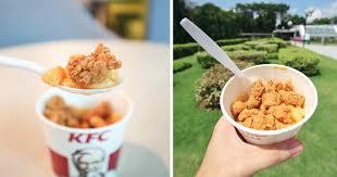 kfc s u0027pore now has mac u0027n cheese with popcorn chicken u2013 mothership sg