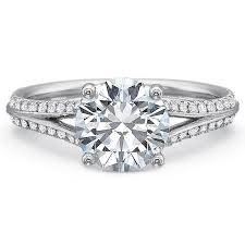 precision set rings precision set new aire diamond shared prong split shank engagement