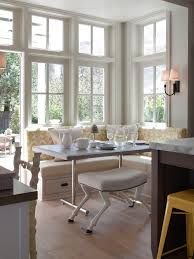 built in nook bench kitchen traditional with vendome sconce yellow