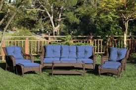 home co herrin 6 piece wicker seating group with cushions