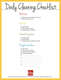 free printables daily weekly u0026 monthly cleaning schedule hm etc