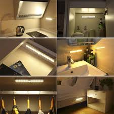 under cabinet lighting no wires amazon com amir motion sensing closet lights 3 pack diy stick on
