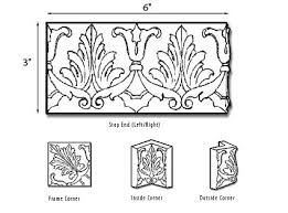 vermeere ceramic tile molding ornamental scroll border complete